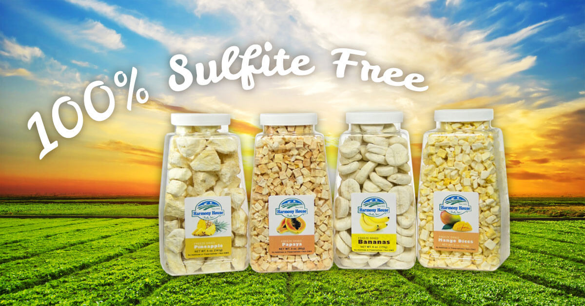 Sulfur Dioxide FAQ: Top Reasons Why Harmony House Only Sells Sulfite-Free Freeze Dried Fruits