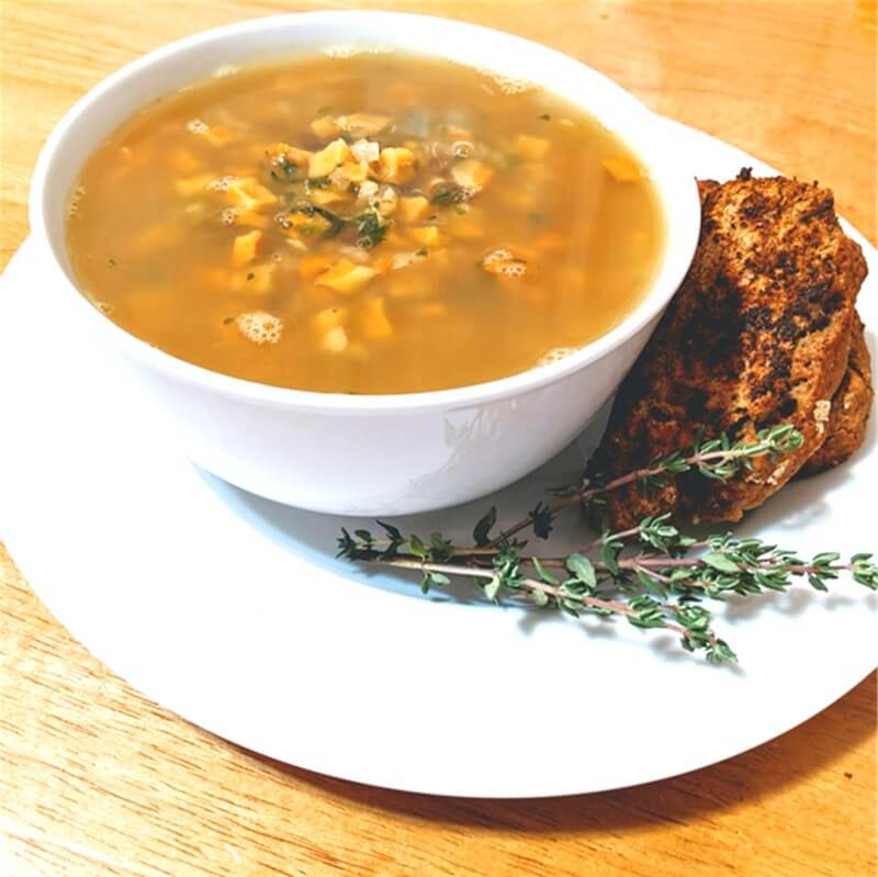 Sweet Potato & Lentil Comfort Soup