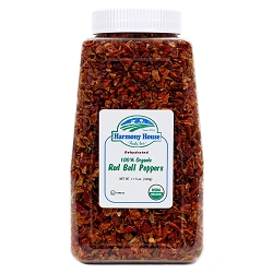 Dried Red Bell Peppers, OG (10.5 oz)