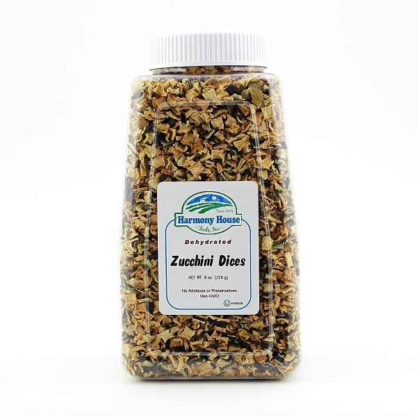 Dried Zucchini, Diced (8 oz)