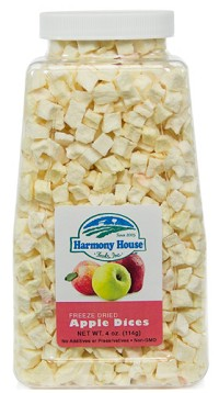 Freeze Dried Apple Dices (4 oz)